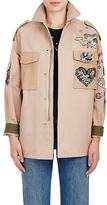Valentino Women's Tattoo-Embellished Cotton Camp Jacket