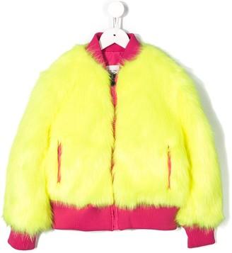 Alberta Ferretti Kids Faux Fur Bomber Jacket