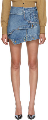 Alexander Wang Blue Deconstructed Miniskirt