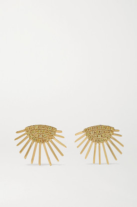 Yvonne Léon 18-karat Gold Sapphire Earrings - one size