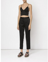 Alexander Wang cropped satin trousers