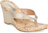 Style&Co. Style & Co. Chicklet Wedge Thong Sandals, Only at Macy's