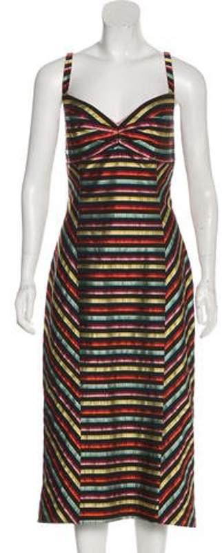 L'Wren Scott Striped Sleeveless Dress w/ Tags Black Striped Sleeveless Dress w/ Tags