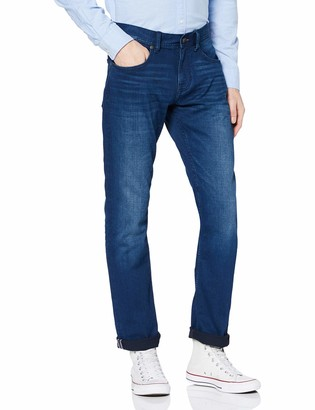 Tommy Hilfiger Men's Ec Bleecker Sstr Goshen Blue Loose Fit Jeans