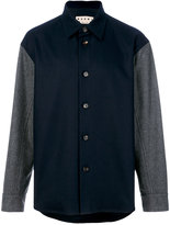 Marni contrast sleeve shirt jacket