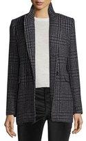 Etoile Isabel Marant Gilane Plaid Tweed Jacket, Gray