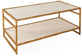 Global Views Sculpted Coffee Table, Gold