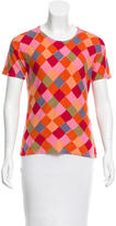 Sonia Rykiel Diamond Print Short Sleeve Top