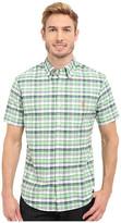 U.S. Polo Assn. Short Sleeve Slim Fit Plaid Pin Point Oxford Sport Shirt