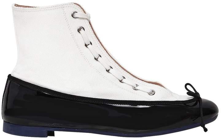 Marco De Vincenzo 20mm Canvas & Patent Ballerina Sneakers