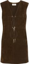 Saint Laurent Cutout suede mini dress