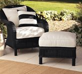 Pottery Barn Palmetto All-Weather Wicker Armchair - Black