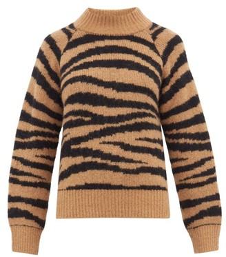 A.P.C. Jemima Tiger Jacquard Alpaca Blend Sweater - Womens - Brown Multi