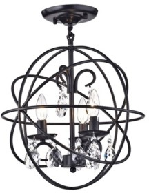 "Home Accessories Rosanna 17"" 3-Light Indoor Pendant Lamp with Light Kit"
