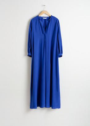 And other stories V-Neck Kaftan Maxi Dress