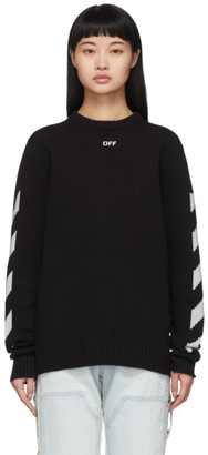 Off-White Black Diag Logo Sweater