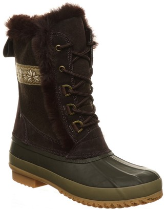 BearPaw Tess Waterproof Faux Fur Boot