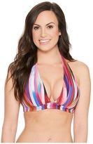 Athena Kaliedostripe Kalena Halter Bikini Top D-Cup Women's Swimwear