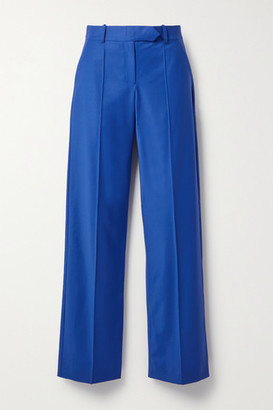 ALEKSANDRE AKHALKATSISHVILI Wool-blend Straight-leg Pants - Cobalt blue