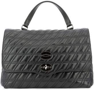 Zanellato Quilted Foldover Tote Bag