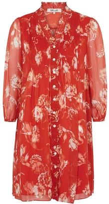 Diane von Furstenberg Layla floral-print silk-chiffon mini dress