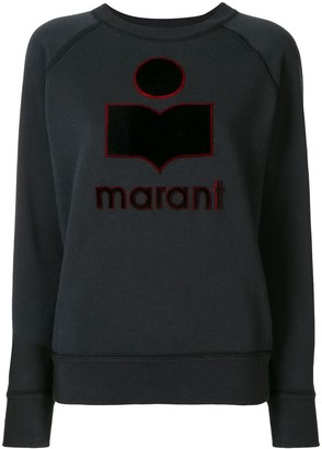 Etoile Isabel Marant Long-Sleeved Embroidered Logo Sweatshirt