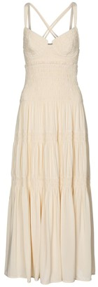Proenza Schouler Smocked crepe midi dress