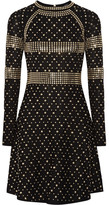 MICHAEL Michael Kors Studded Stretch-knit Dress - Black