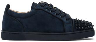 Christian Louboutin Navy Louis Junior Spikes Orlato Sneakers