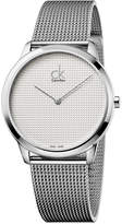 Calvin Klein Men's Minimal Swiss Stainless Steel Mesh Bracelet Watch 40mm K3M2112Y