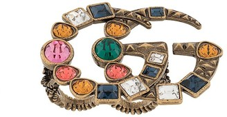Gucci Pre Owned 2019 embellished GG double ring