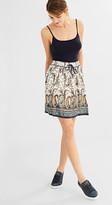 Esprit Flowing skirt w elasticated waistband