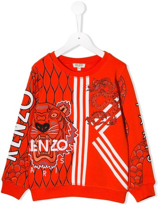 Kenzo Kids Chinese New Year Capsule tiger and dragon print sweatshirt