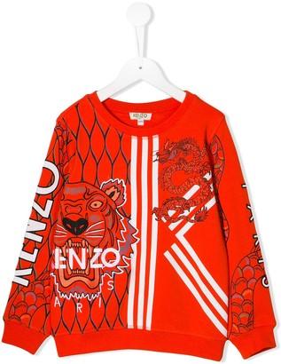 Kenzo Chinese New Year Capsule tiger and dragon print sweatshirt