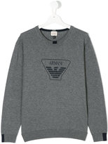 Armani Junior classic logo pullover