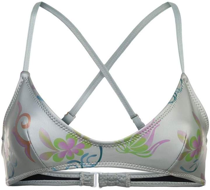 Cynthia Rowley Cascai printed glideskin bikini top
