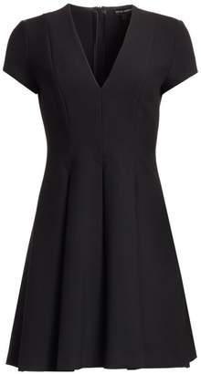 Emporio Armani Cap Sleeve V-Neck Dress
