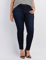 Charlotte Russe Plus Size Dark Wash Skinny Jeans