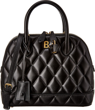 Balenciaga Ville Aj Small Quilted Leather Top Handle Tote