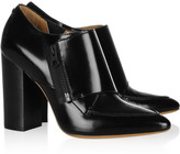 Delia patent-leather monk-strap ankle boots