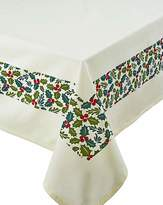 Fashion World Christmas Holly Tablecloth