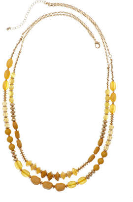 MIXIT Mixit Mustard 29 Inch Cable Beaded Necklace