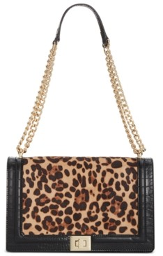 INC International Concepts Inc Ajae Leopard Flap Crossbody, Created for Macy's