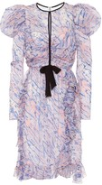 Giambattista Valli Abstract-floral silk dress