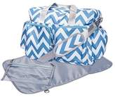 Trend Lab Chevron Deluxe Duffle Diaper Bag, Blue/White by