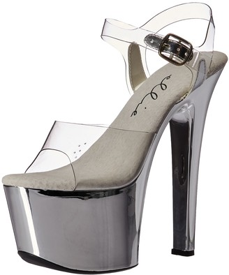 Ellie Shoes Women's 711-chrome Platform Sandal