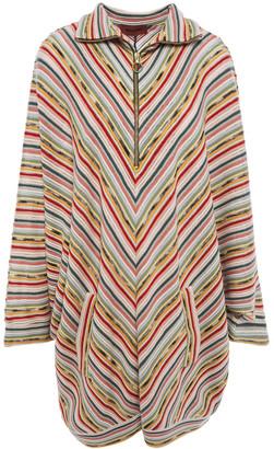 Missoni Striped Crochet-knit Wool-blend Mini Dress