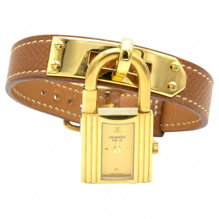 Hermes Vintage Kelly Gold Gold plated Watches