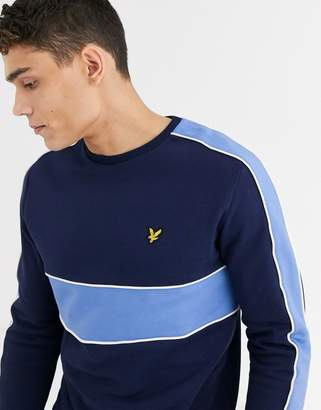 Lyle & Scott cut & sew sweatshirt-Navy