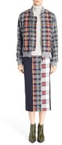 Acne Studios Women's Plaid Wool Blend Bomber Jacket